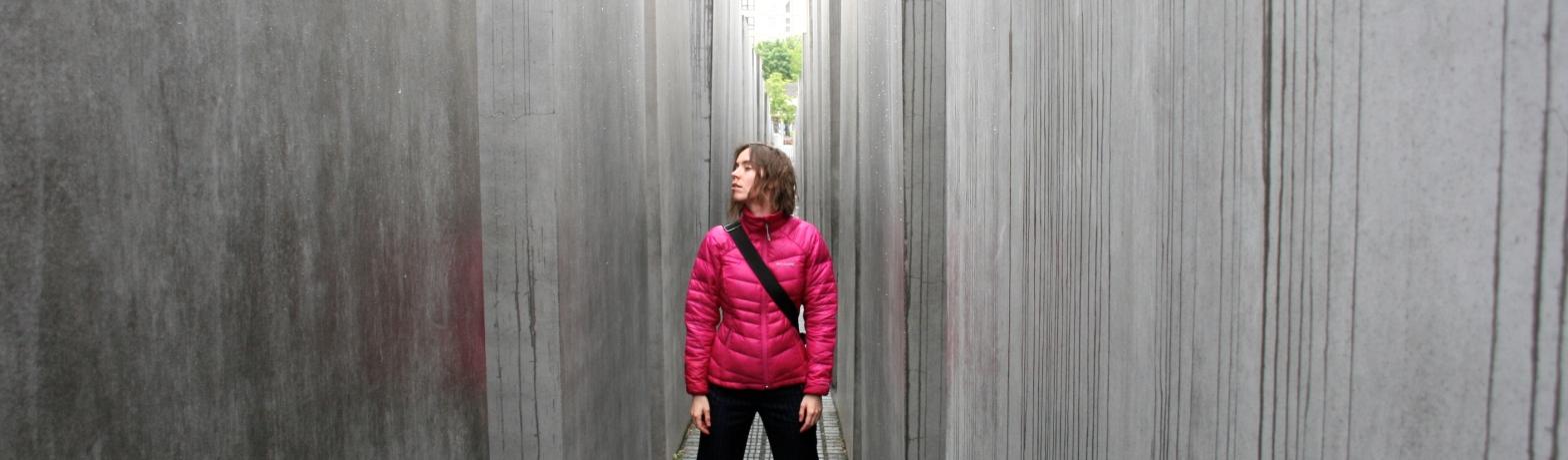 at the Jewish memorial