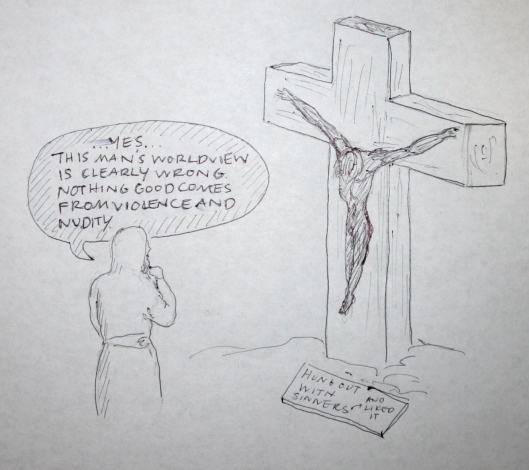 Jesus and Doug Wilson cartoon